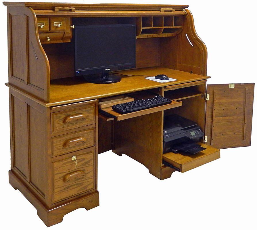 Bureau d'ordinateur en chêne